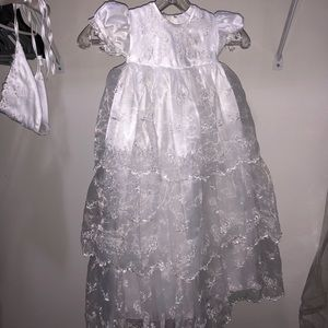 J.J. Anjorden Baptism or Holiday White Dress w hat
